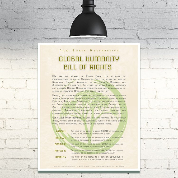 New Earth Declaration :: Global Humanity Bill of Rights